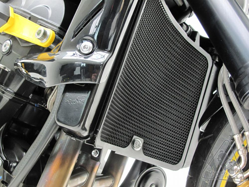 Street Triple 675 Amp R 2007 12 R Amp G Radiator Guard Black